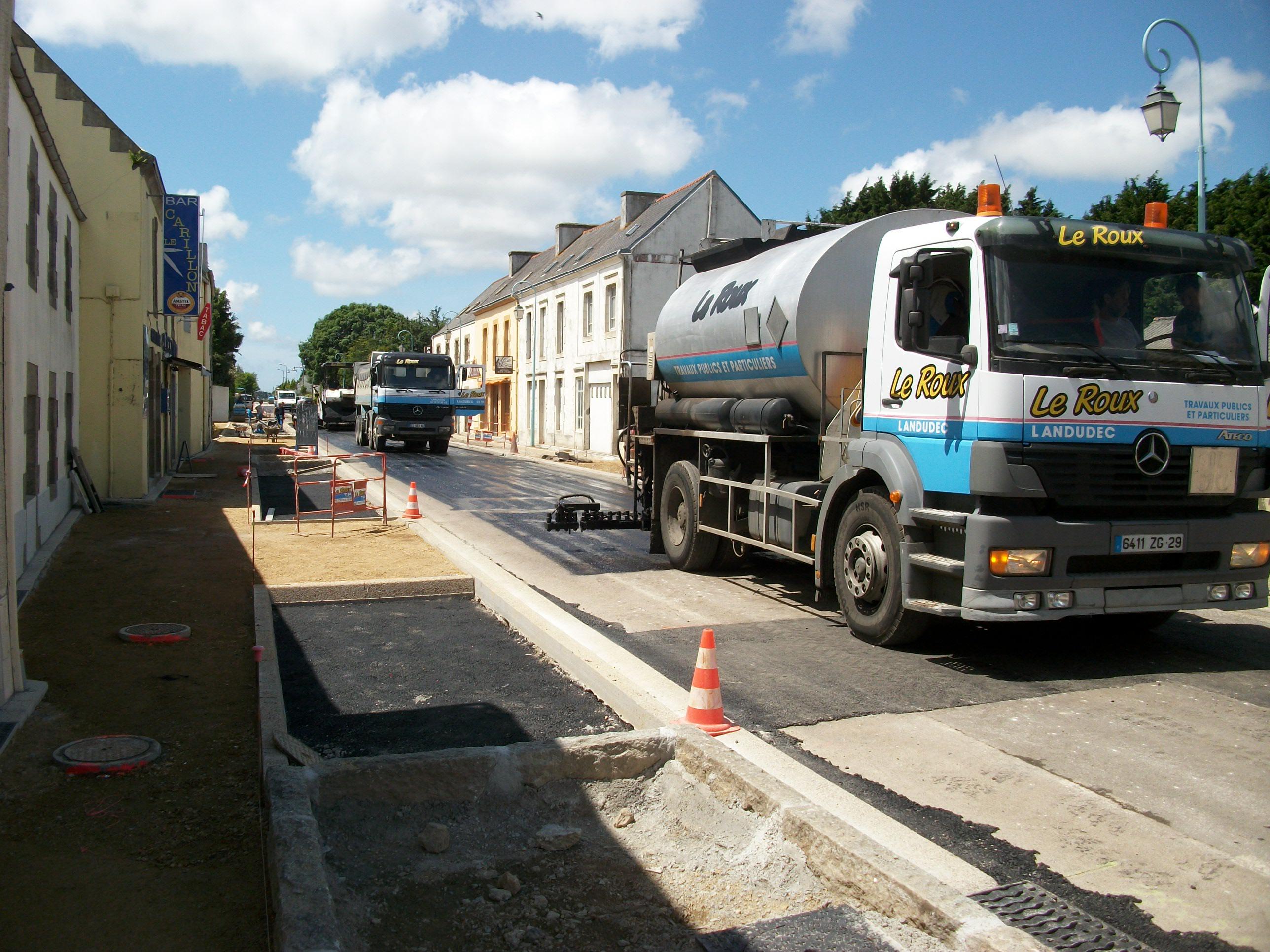 Le Roux TP - Travaux Publics - Voirie route - Voirie en centre ville - 2