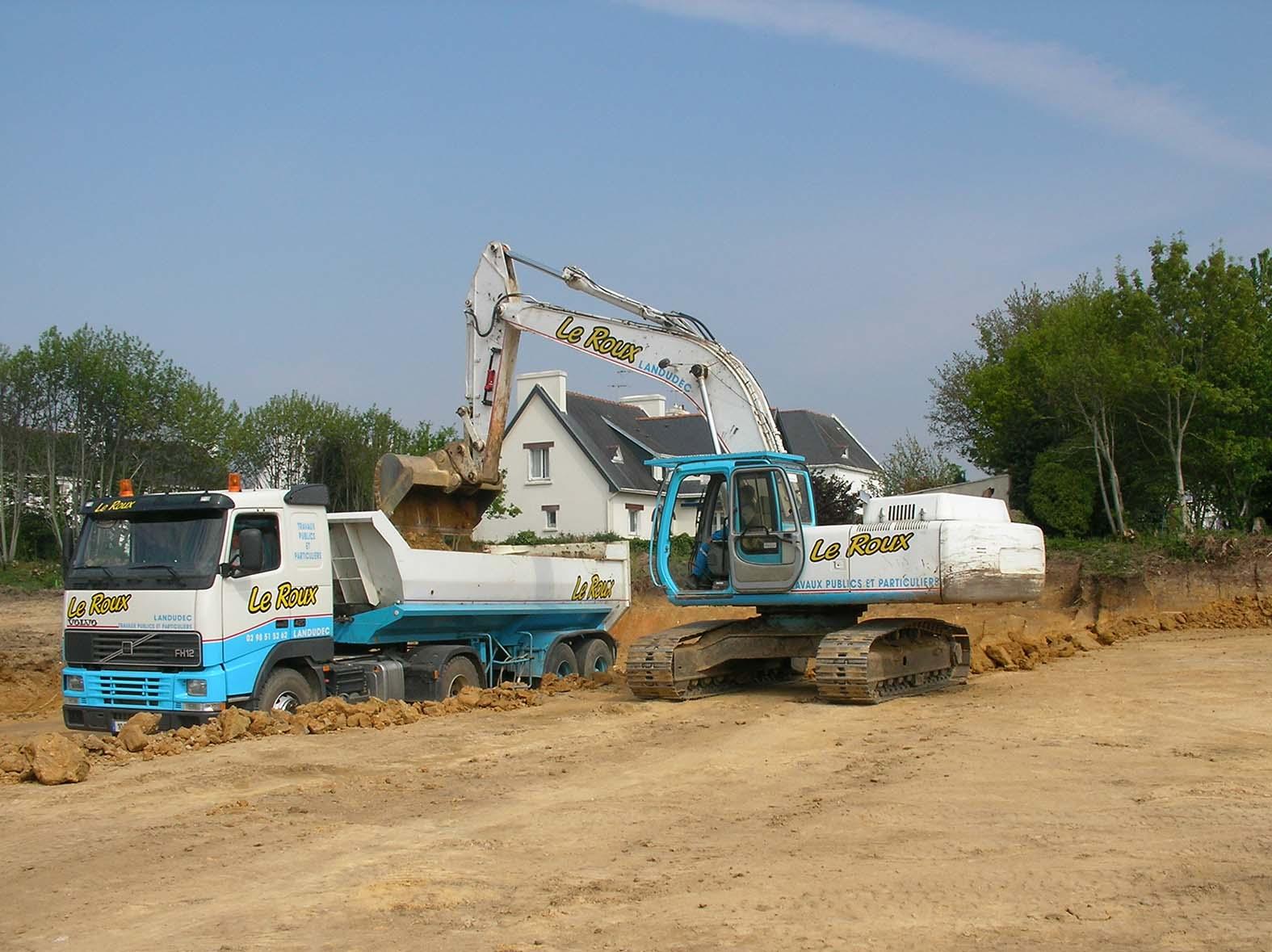 Le Roux TP – Travaux Publics – Plateforme industrielle - Plateforme en cours de terrassement - 2